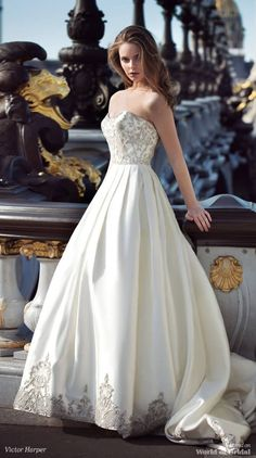 Victor Harper Spring 2018 Couture Classic a-line bridal ball gown with fully beaded bodice