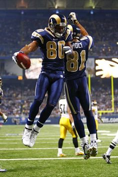 Torry Holt (81) and Isaac Bruce (80). Duo of the greatest show on turf (1999).
