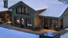 House In The Woods, Garage Doors, Floor Plans, Exterior, Flooring, Mansions, Architecture, House Styles, Outdoor Decor