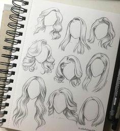Karakalem Saç Çizim Teknikleri - Hair Style Pencil Drawing Hair Drawing Techniques - the Hair Sketch, Hair Style Sketches, Arte Sketchbook, Fashion Design Sketches, Sketch Fashion, Drawing Fashion, Drawing Reference, Drawing Tips, Drawing Ideas