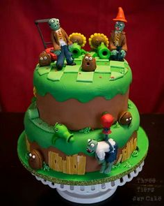 Plants vs Zombie cake by Three Tiers for Cake