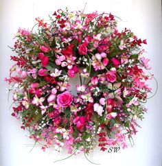 Spring Wreath-Summer Wreath-Wildflower by SeasonalWreaths on Etsy