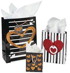 Valentine's Black and Gold Gift Bag