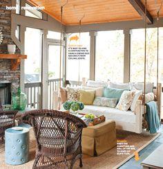 Lisa Mowry's screened porch