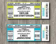 Concert Ticket Escort Cards - Place Cards - Deposit to get started