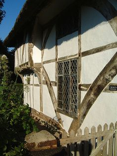 Clergy House elevation of the great hall and solar wing. A classic Wealden Hall House, the first building purchased by the National Trust in 1896, for the princely sum of £10.