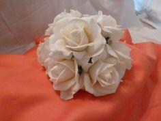 IVORY ROSE CAKE TOPPER :  wedding P1000217