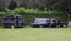 Hearse and dark camper. All in the family I guess?
