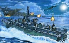 Action-in-the-Slot-Tom-Freeman-WWII-PT-Boat-Artist-Proof-PT-124-Pacific-1943