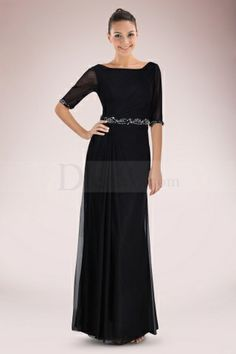 Graceful A-line Mother of Bride Dress Featuring V-back Design and Beaded Waist