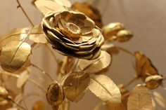 """echiromani: """" Detail of a Golden Rose, a papal honor which was given to Catholic princes by the Holy Father as a sign of affection or honor. They were traditionally blessed on Lætare Sunday, the fourth Sunday of Lent (which may actually be the reason. Gold Aesthetic, Aesthetic Photo, Growing Strong, Stay Gold, Red Queen, All That Glitters, Beauty And The Beast, Catholic, Prince"""
