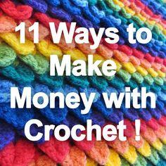 11 Ways to Make Money With Crochet – Indie Crafts # crochet crafts to sell make money 11 Ways to Make Money With Crochet Crochet Stitches, Knit Crochet, Crochet Patterns, Blanket Patterns, Crochet Mask, Crochet Braid, Beaded Crochet, Crochet Cardigan, Crochet Crafts