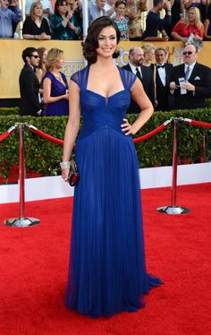 Actress Morena Baccarin attends the Annual Screen Actors Guild Awards at The Shrine Auditorium on January 18 2014 in Los Angeles California Morena Baccarin, Dc Comics Heroes, Female Stars, Los Angeles California, Prom Dresses, Formal Dresses, Foto E Video, Fashion Models, Hollywood