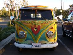 Awesome Yin-Yang VW Bus.  The value of this car model is expensive.