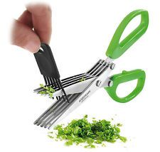 5 Stainless Steel Kitchen Blades Scissor  Cleaning Tool  Vegetable Paper Cutter