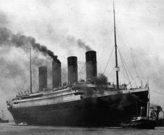 RMS Titanic. Those Coal Heated Boiler Furnaces Sure Did Belch Out Plenty Of Black Smoke!