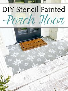 DIY Stencil Painted Porch Floor with Porch Paint | How to stencil a porch floor using porch paint   the method to make your design look flawless and how to make it last.