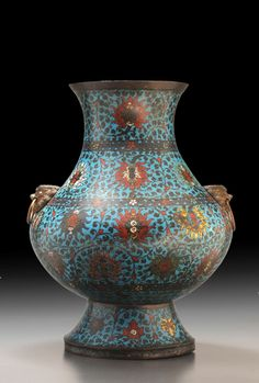 Hu cloisonne jare from Ming Dynasty