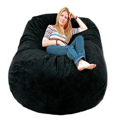 Amazon.com: Cozy Sack 6-Feet Bean Bag Chair, Large, Cinnabar: Kitchen & Dining