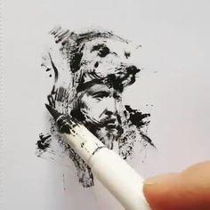 Ferhat Edizkan is a Turkish pencil sketch artist. Ferhat Edizkan is an artist who uses an extraordinary technique in his drawings. Art Drawings Sketches Simple, Pencil Art Drawings, Pencil Sketch Art, Arte Sketchbook, Pen Art, Pretty Art, Portrait Art, Art Techniques, Art Tutorials