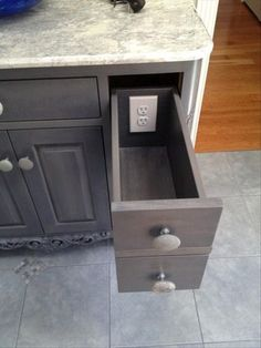 Outlet in Drawer.  I can do that...