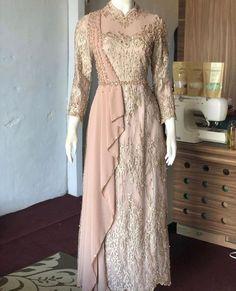 Dress Brokat Muslim, Dress Brokat Modern, Kebaya Modern Dress, Kebaya Dress, Dress Pesta, Kebaya Hijab, Kebaya Brokat, Hijab Evening Dress, Hijab Dress Party