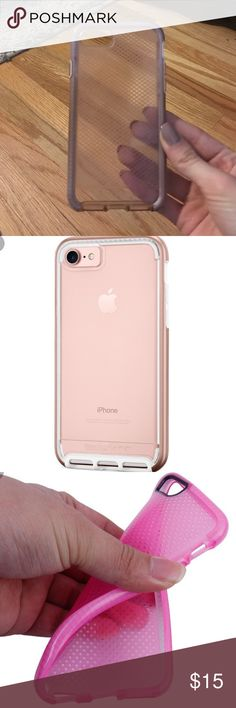 Tech21 iPhone 7 phone case Pink Tech21 iPhone 7 phone case, silicon - lightly used, great condition! tech21 Accessories Phone Cases