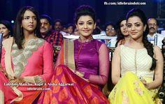 Kajal Aggarwal, Nisha Aggarwal and Lakshmi Manchu in Cine MAA Awards 2013