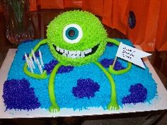 """For the """"Little Monster"""" them a Monsters Inc cake seems too cute <3"""