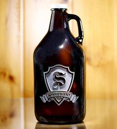 Custom Amber Glass Growler Jug by Crystal Imagery  on Scoutmob Shoppe