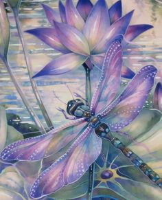 HOW TO PAINT DRAGONFLIES