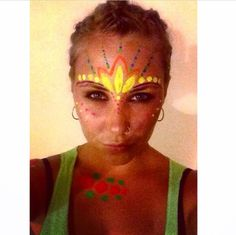 My full moon party UV face paint in Thailand