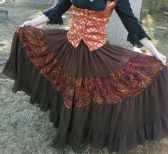 Clockwork Gypsy Skirt  Brown Gauze and by engineerandthegypsy, $125.00  This is just so cool.