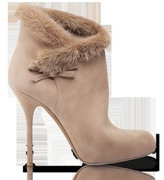 Dior - Imgend tan fur lined booties (ankle boots)