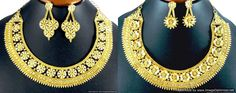 Necklace Earrings set Jewelry set Gold Plated Exclusive Ethnic Bridal Jewelry