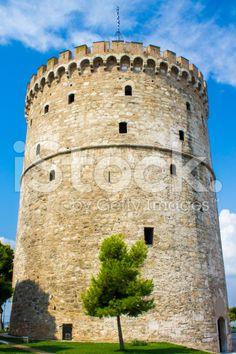 White Tower of  Thessaloniki royalty-free stock photo