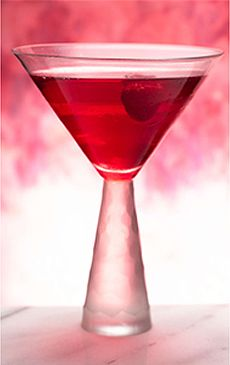 Love Potion    2 ounces cranberry juice cocktail  1 ounce Absolut Raspberry  Splash sweetened lime juice  Splash grenadine  Raspberry for garnish