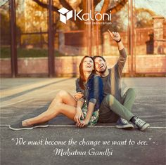 """Motivate Me Monday! """"We must become the change we want to see."""" - Mahatma Gandhi  Do you want to change how you look and feel? Visit Kaloni and try our free assessment!  Call 1855KALONI9 or visit our website www.kaloni.us  #mondaymotivation"""