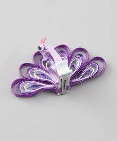 This Purple Peacock Clip by Too Too Cute is perfect! #zulilyfinds