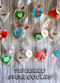 Jordan's Onion: Superhero Sugar Cookies and Free Printable Gift Ta. Sugar Cookie Recipe Easy, Rolled Sugar Cookies, Free Printable Gift Tags, Free Printables, Valentine Cookies, Valentines, Superhero Cookies, Superman, Batman
