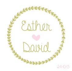 #Trouwkaartje Esther & David #trouwkaartjes #trouwen #wedding #bruiloft
