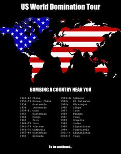 """""""US World Domination Tour"""" [click on this image to find a short video and analysis of the ethics of war and war making]"""