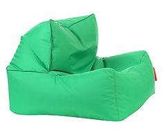 Poltrona/pouf in poliuretano e nylon Liz verde - 75x75x35 cm