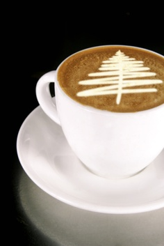 It's nearly Christmas and time to celebrate with some suitably festive latte art!