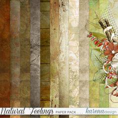 Digital Scrapbooking, Feelings, Natural, Paper, Shop, Painting, Collection, Design, Art