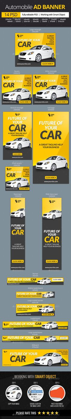 Car and Automobile Web Banners - Banners & Ads Web Elements