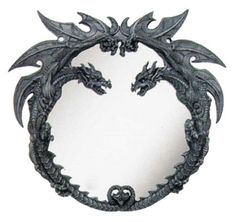 dragon furniture | Decorative Dragon Wall Mirror with Dragon Frame Art