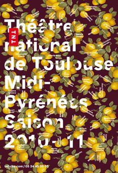 AfficheThéâtre National de Toulousevia www.apeloig.com