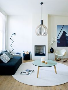 Octo 4240 by Secto Design fits perfectly in this cool Icelandic living room! Spotted on the Feel Inspired Blog http://www.feelinspiredblog.com/