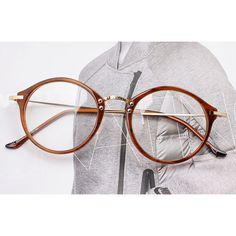 1920s Vintage Oliver Retro Eyeglasses 1023 Brown Round Frames Eyewear rubyruby #Unbranded #Round